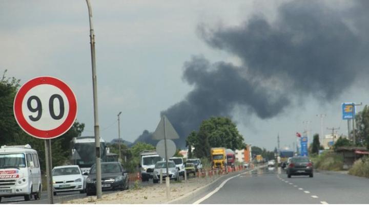 Aydın'da organize sanayi bölgesinde yangın çıktı
