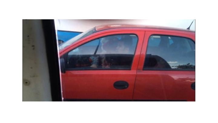 Gaziantep'te sürücü kucağında çocukla araba kullandı