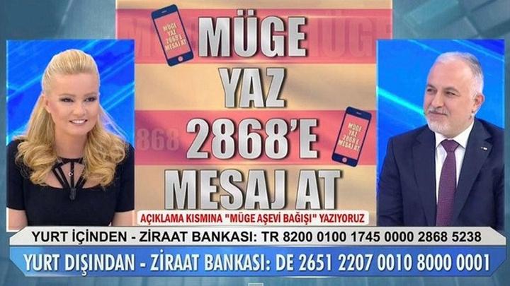 Araştırmacı-Gazeteci Müge Anlı  'Aşevi' kampanyasına 4 milyon lira bağış topladı