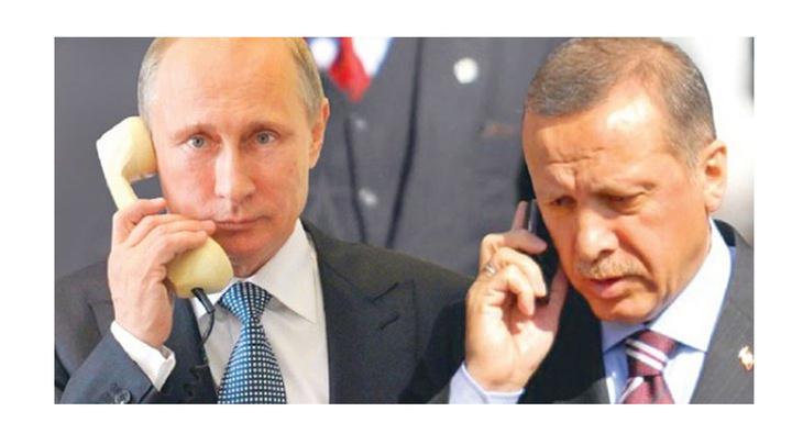 Cumhurbaşkanı Recep Tayyip Erdoğan ve Rusya Devlet Başkanı Putin telefon ile görüştü