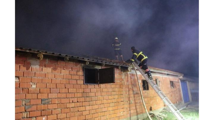 Afyonkarahisar'da korkutan besihane yangını