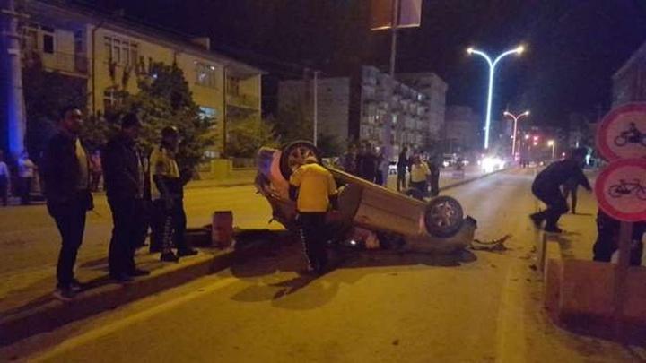 Konya Ereğli'de kontrolden çıkan otomobil takla attı: 1 yaralı