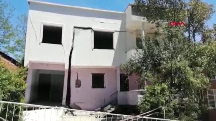 Ordu'da heyelanda 15 binanın yıkıldı