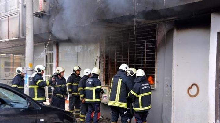 Adana'da evdeki yangında biri bebek 4 kişi, dumandan etkilendi