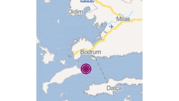 Bodrum'da peş peşe deprem meydana geldi