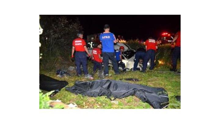 Adana'da otomobil takla atarak şarampole uçtu: 2 ölü, 2 yaralı