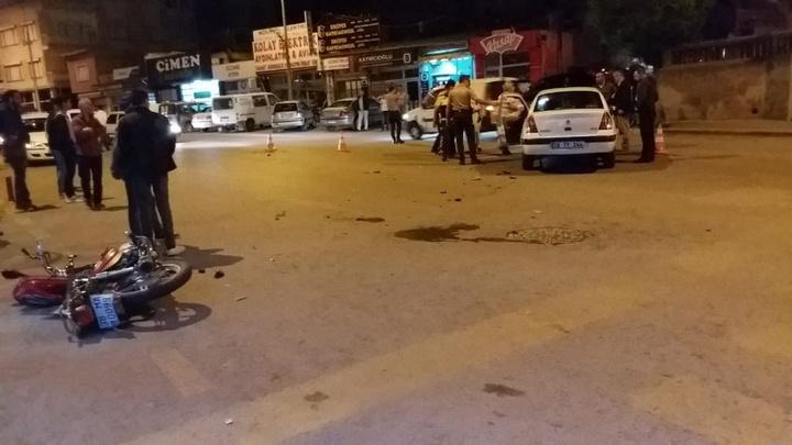 Develi'de trafik kazasında 1 kişi yaralandı
