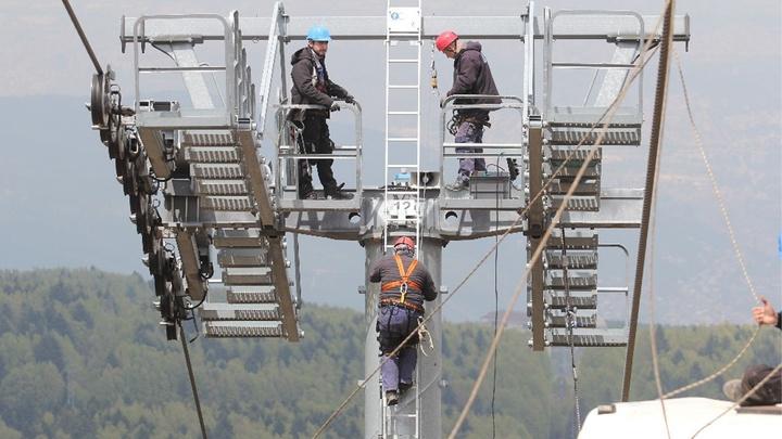 Uludağ'da teleferik bakım çalışmaları bitti