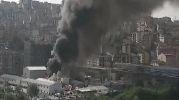 Eyüp Güzeltepe metro inşaatında yangın