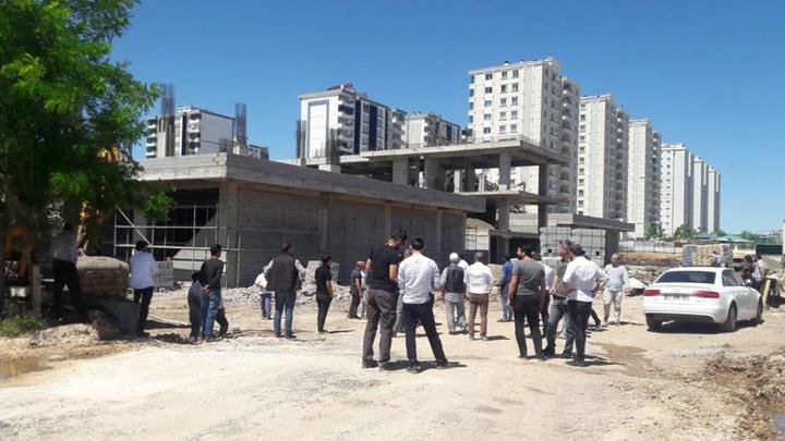 Diyarbakır'da inşaatta çökme sonucunda 3 işçi yaralandı