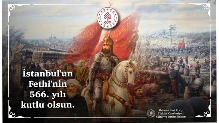 """Kültür ve Turizm Bakanı Mehmet Nuri Ersoy: """"Dünya tarihine yön veren en görkemli zafer"""""""