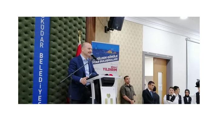 İçişleri Bakanı Süleyman Soylu, Üsküdar'da Trabzonlularla sahur yaptı