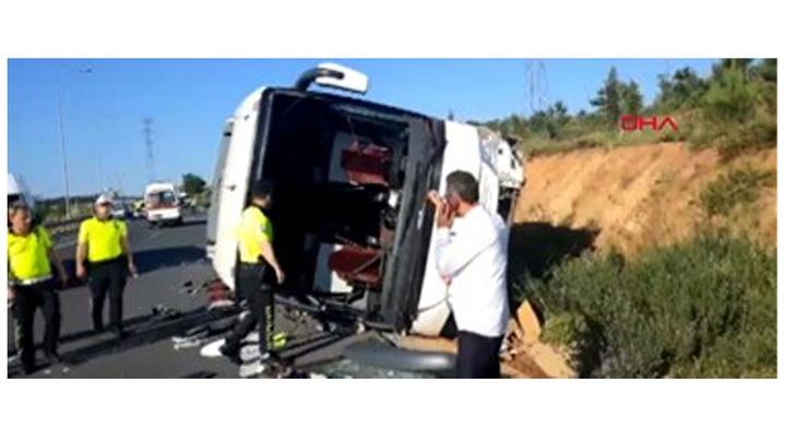 Ümraniye'de feci kaza: 1 ölü, 15 yaralı