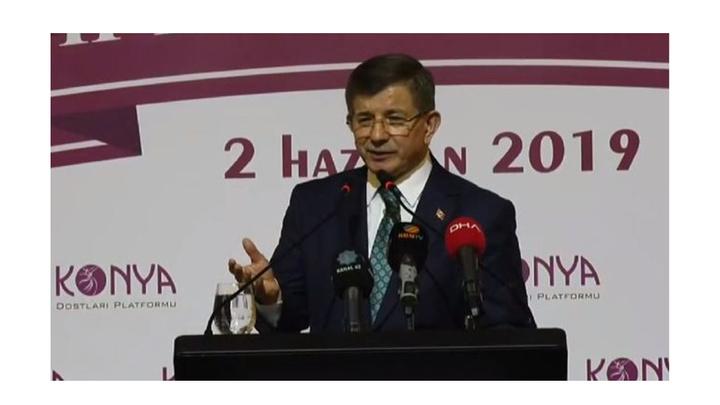 Eski Başbakan Ahmet Davutoğlu: Yeni hâle ihtiyacımız var