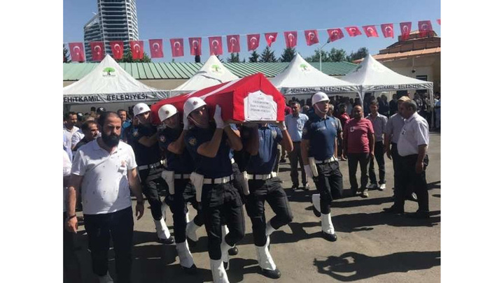 Gaziantep'te kavgada vurulan şehit polis memuru defnedildi