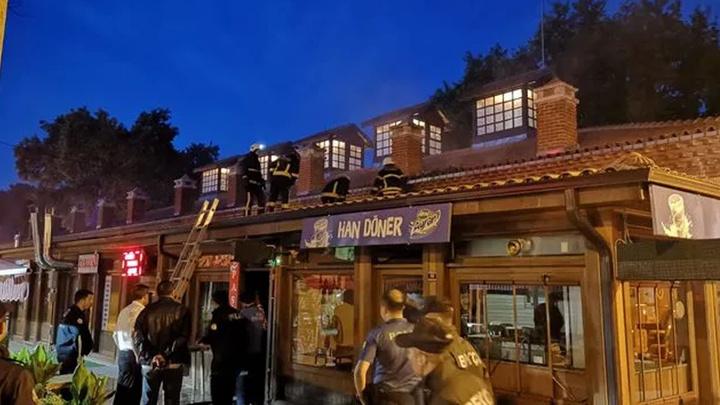 Bursa'da tarihi handa yangın
