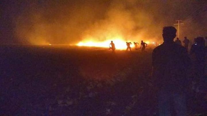 Ceylanpınar'da tarım arazisine yıldırım düşmesiyle 10 bin dönüm ekin kül oldu