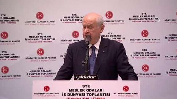 MHP lideri Devlet Bahçeli STK'larla buluşmada konuştu
