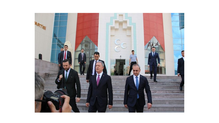 Milli Savunma Bakanı Hulusi Akar, MHP Lideri Devlet Bahçeli ile görüştü