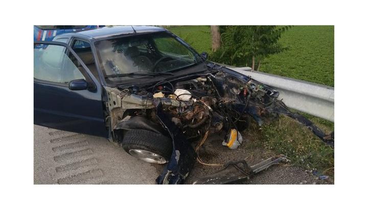 Sungurlu'da iki otomobilin çarpıştığı kazada 3 kişi yaralandı