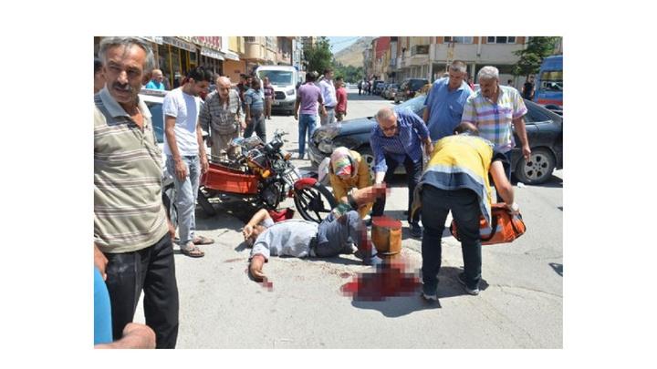 Kahramanmaraş'ta korkunç kaza: Motosiklet sürücüsünün ayağı koptu
