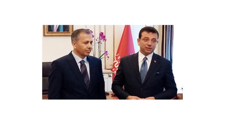 Ekrem İmamoğlu, İstanbul Valisi Ali Yerlikaya'dan görevi devraldı
