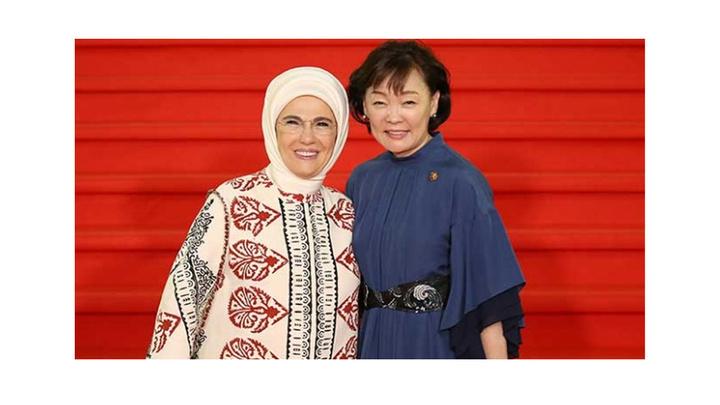 Emine Erdoğan, Osaka'da 'Okyanuslar' sempozyumuna katıldı
