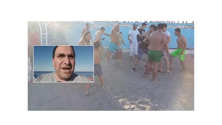 Antalya'da sahilde eşini döven kocaya sahilde meydan dayağı attılar
