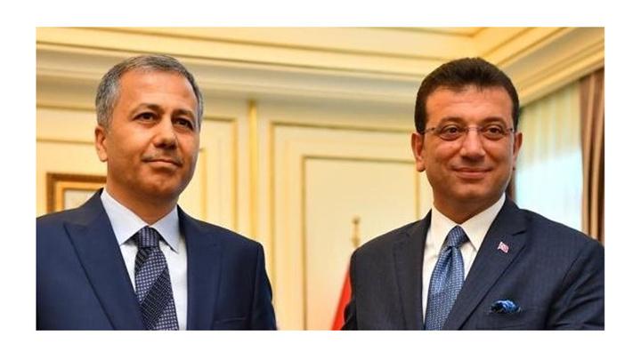 İBB Başkanı Ekrem İmamoğlu, İstanbul Valisi Ali Yerlikaya'yı ziyaret etti