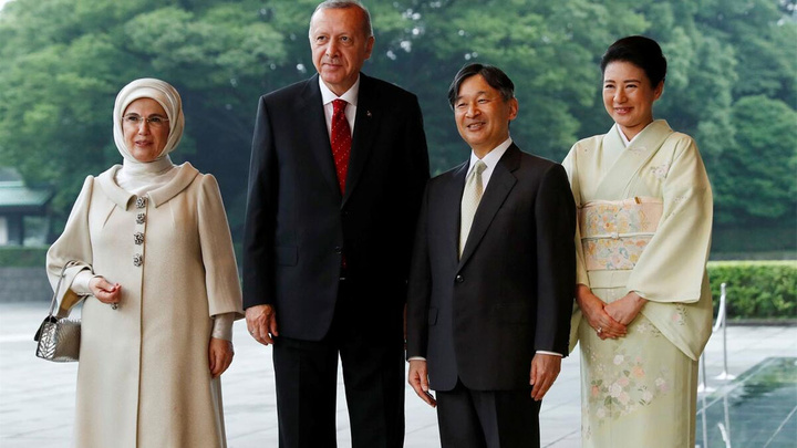 Cumhurbaşkanı Recep Tayyip Erdoğan Japon İmparatoru Naruhito ile görüştü