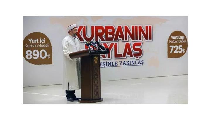 Diyanet İşleri Başkanı Prof. Dr. Ali Erbaş, yurt içi ve yurt dışı kurban kesim bedelini açıkladı