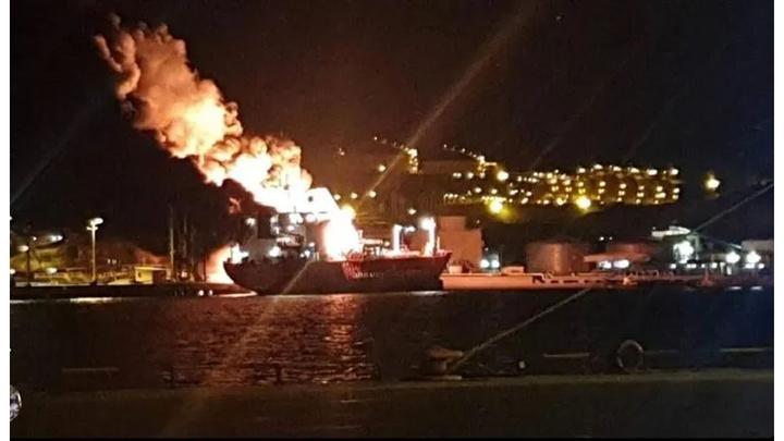 Aliağa Limanı'ndaki gemide meydana gelen patlamada 1 kişi öldü, 15 kişi yaralandı