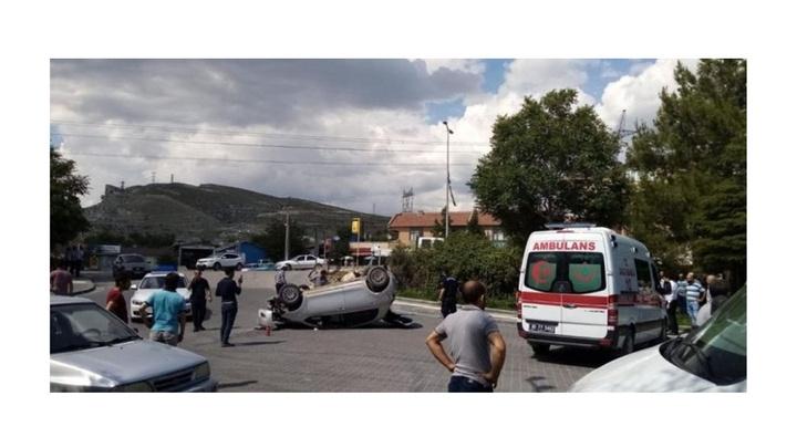 Nallıhan'da trafik kazasında 1 kişi yaralandı