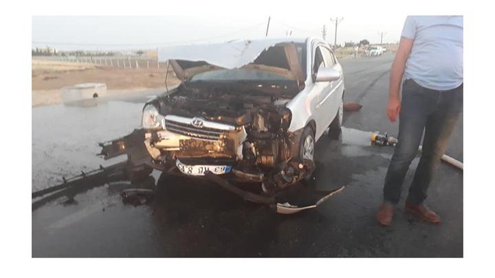 Adıyaman'da kazada 4 kişi yaralandı