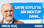 Hıncal Uluç'tan Bakan Süleyman Soylu'ya sitemkar mektup!