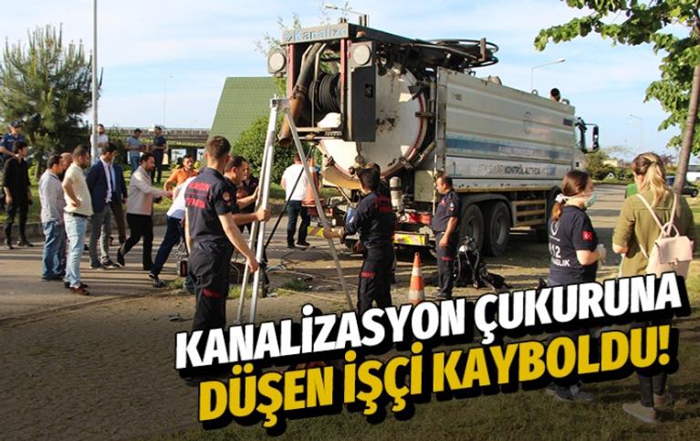 Kanalizasyon çukuruna düşen işçi kayboldu!
