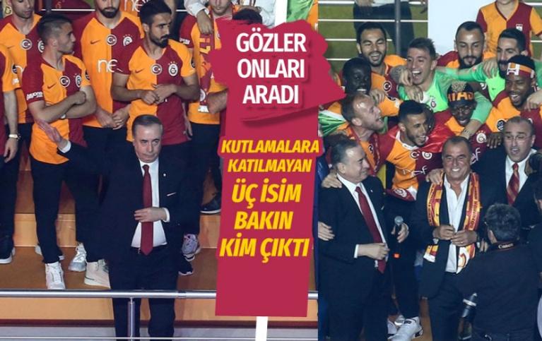 Galatasaray'ın şampiyonluk kutlamasına katılmayan üç isim