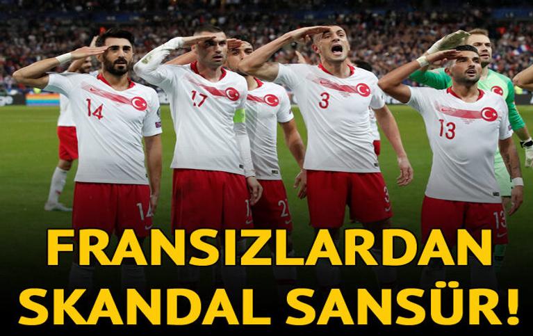 Skandal sansür! Türkiye'nin gol sevincini yayınlamadılar