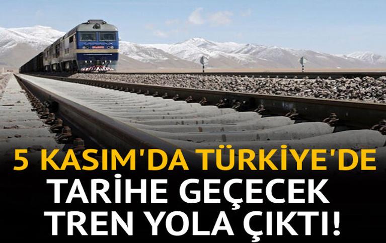 Tarihe geçecek tren yola çıktı!