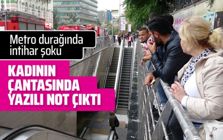 Metro durağında intihar şoku
