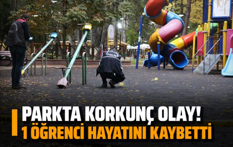 Parkta korkunç olay... 1 öğrenci öldü!