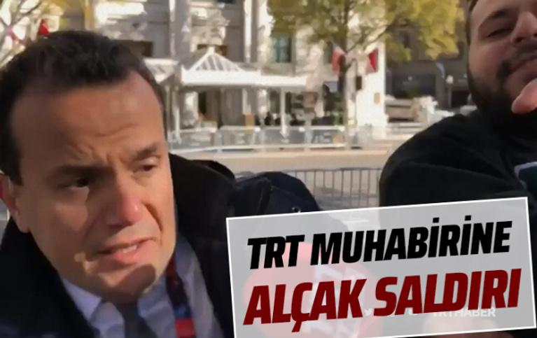 Terör yandaşlarından TRT muhabirine saldırı