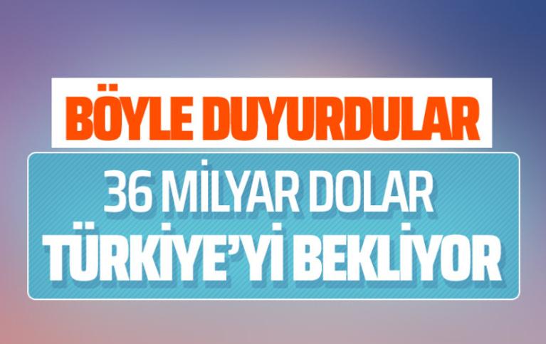 36 milyar dolar Türkiye'yi bekliyor