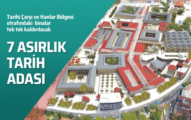 Bursa'da 7 asırlık tarih adası