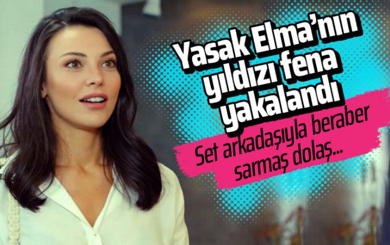 Yasak Elma dizisinin yıldızı Tuvana Türkay set arkadaşıyla el ele yakalandı!