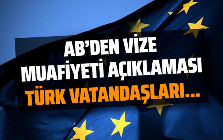 AB Türkiye Delegasyonundan vize muafiyeti açıklaması