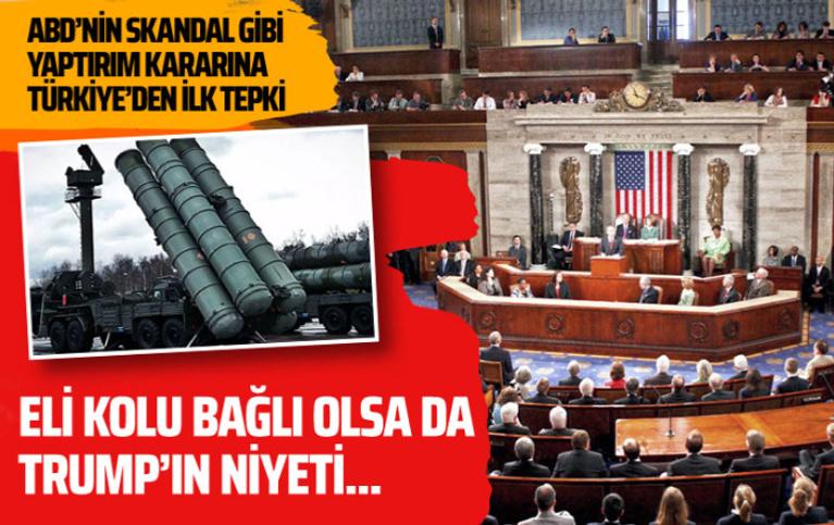 ABD Senatosu'nun yaptırım onayına Türkiye'den ilk tepki