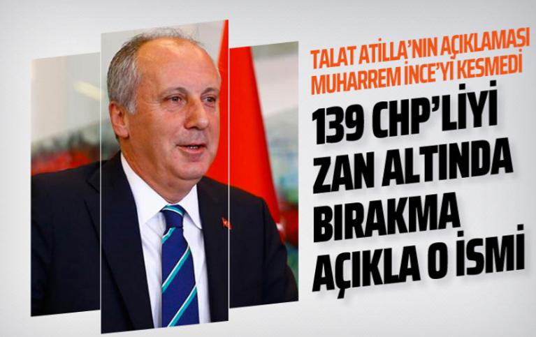 Muharrem İnce'den son dakika Talat Atilla açıklaması