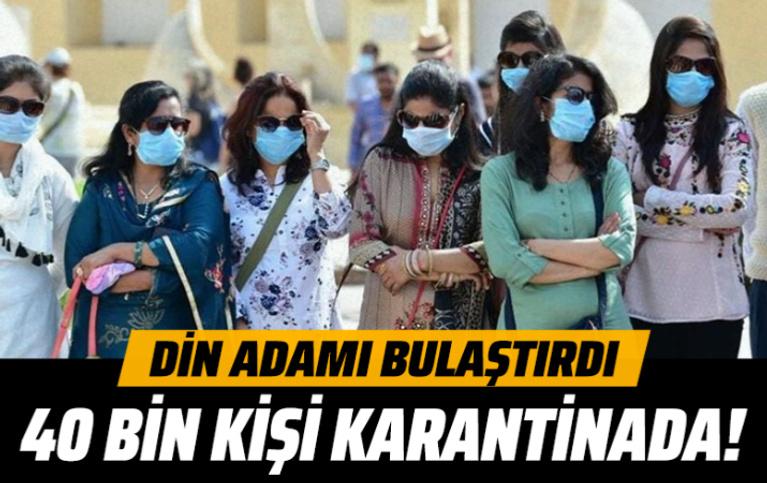 Hindistan'da 40 bin kişi koronavirüsten ölen din adamı nedeniyle karantinaya alındı