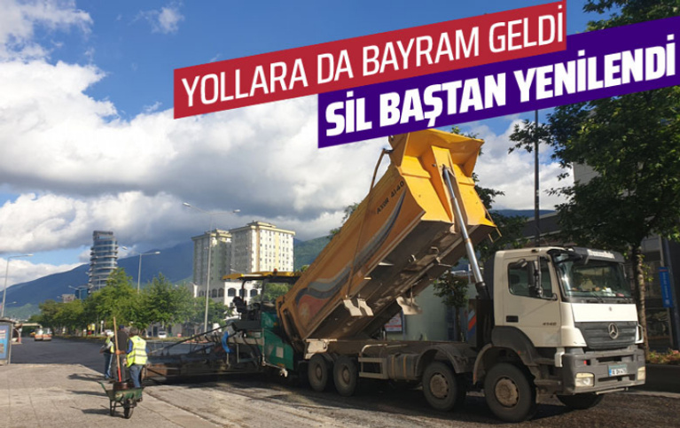 Bursa'da yollara bayram geldi